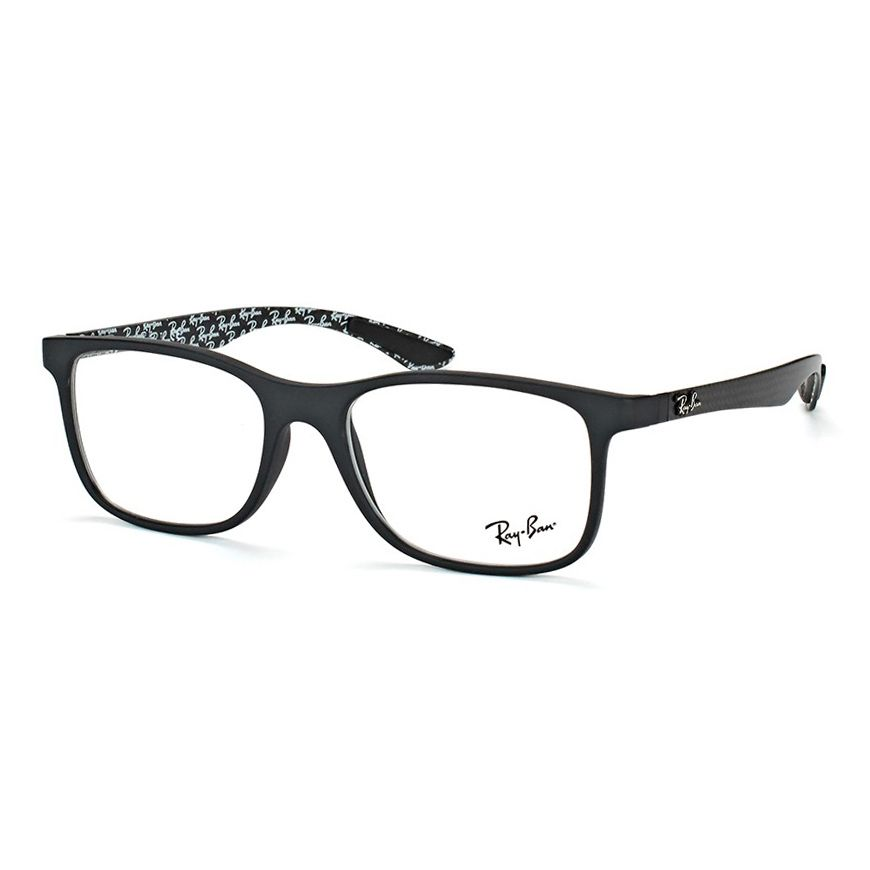 Óculos de Grau Masculino Grande Ray Ban RX8903 Preto Fosco