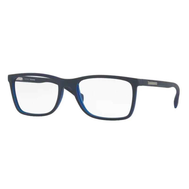 Óculos de Grau Masculino Jean Monnier J83171 Azul Marinho Fosco