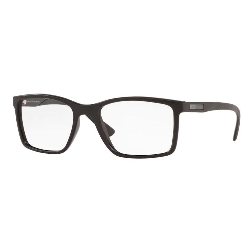 Óculos de Grau Masculino Jean Monnier J83196 Quadrado Preto Fosco