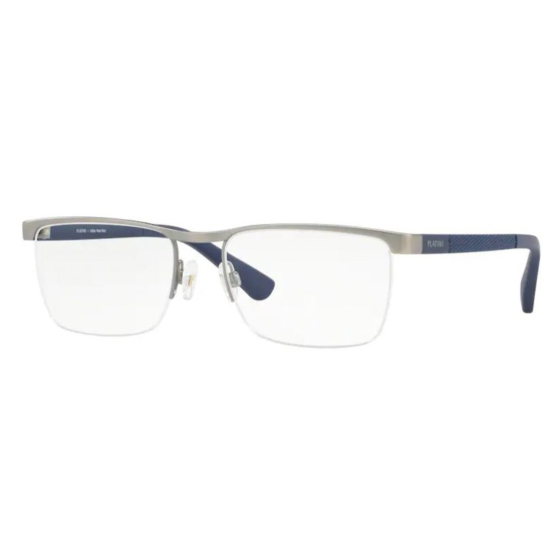 Óculos de Grau Masculino Platini P91177 Prata e Azul Fosco