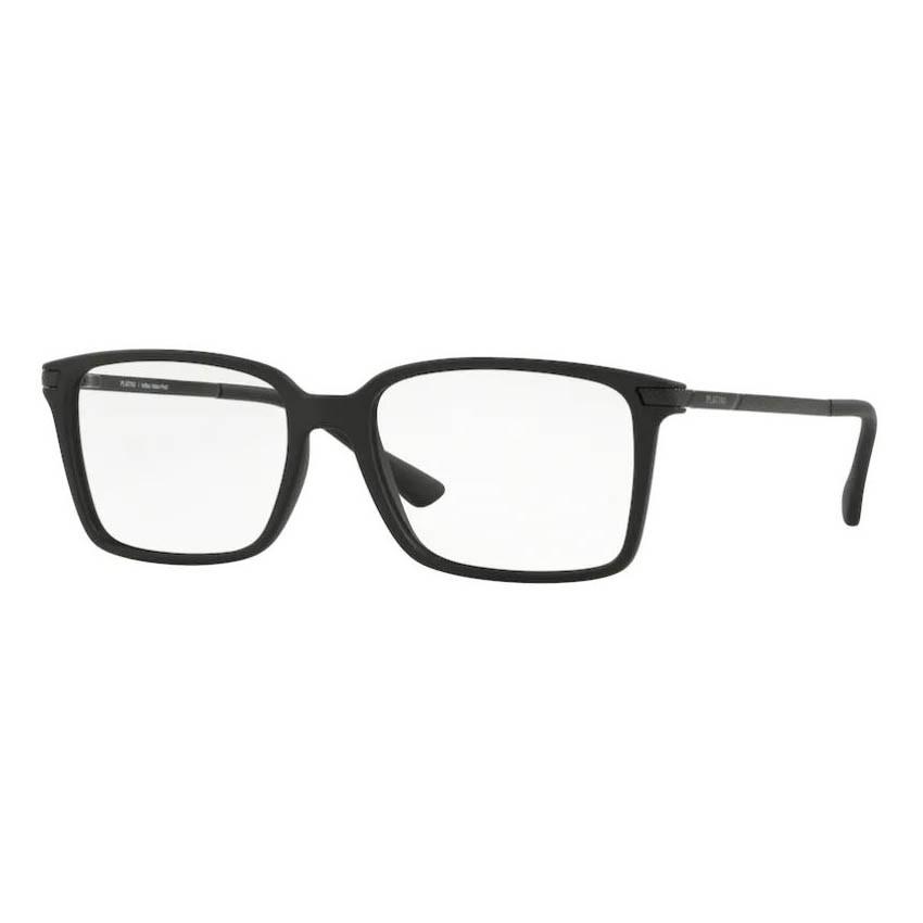 Óculos de Grau Masculino Platini P93141 Preto Fosco Quadrado