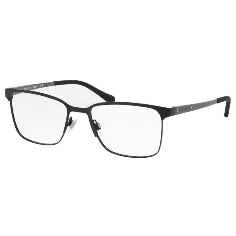 Óculos de Grau Masculino Ralph Lauren RL 5101 Metal Preto Fosco