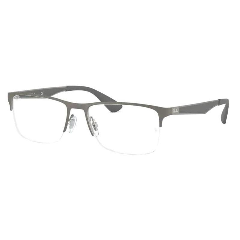 Óculos de Grau Masculino Ray Ban RX6335 Cinza Grafite