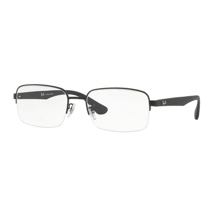 Óculos de Grau Masculino Ray Ban RX6407L Metal Preto Brilho