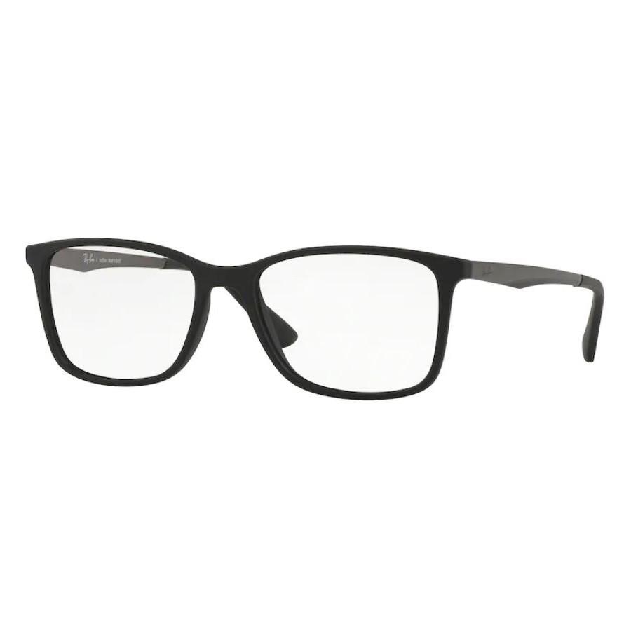 Óculos de Grau Masculino Ray Ban RX7133L Acetato Preto Fosco