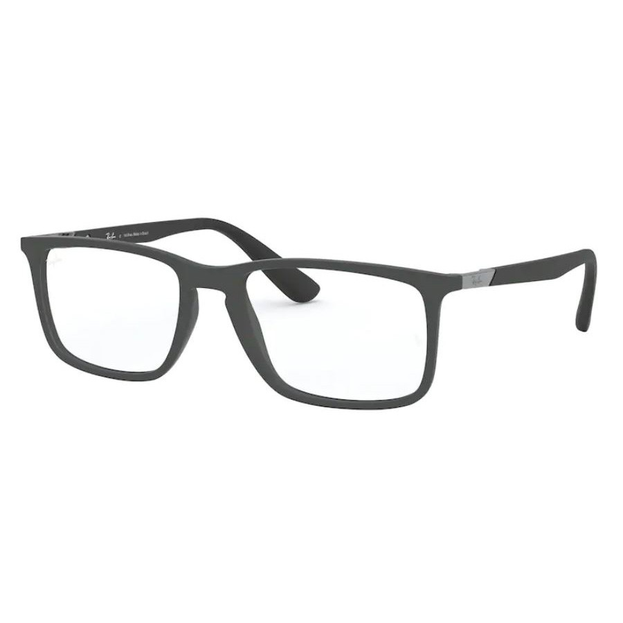 Óculos de Grau Masculino Ray Ban RX7158L Cinza Fosco Tamanho 56