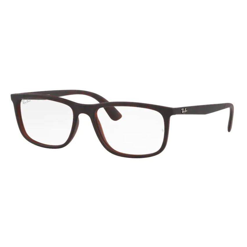 Óculos de Grau Masculino Ray Ban RX7171L Marrom Havana Tamanho 56