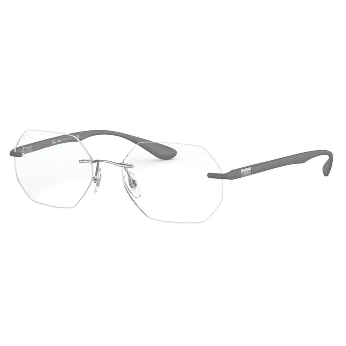 Óculos de Grau Masculino RayBan Flutuante RX8765 Titanium Cinza
