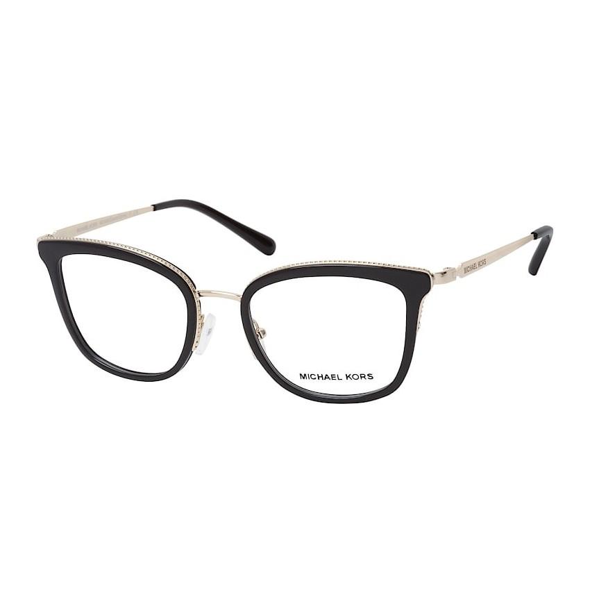 Óculos de Grau Michael Kors Coconut Grove MK3032 Preto Brilho