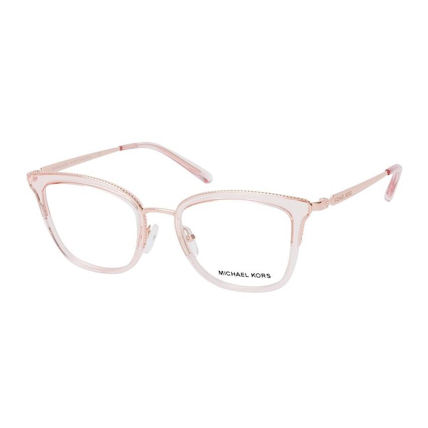 Óculos de Grau Michael Kors Coconut Grove MK3032 Rosa Transparente