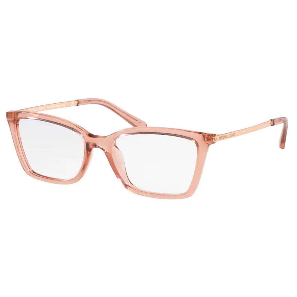Óculos de Grau Michael Kors Hong Kong MK4069U Rosa Translúcido