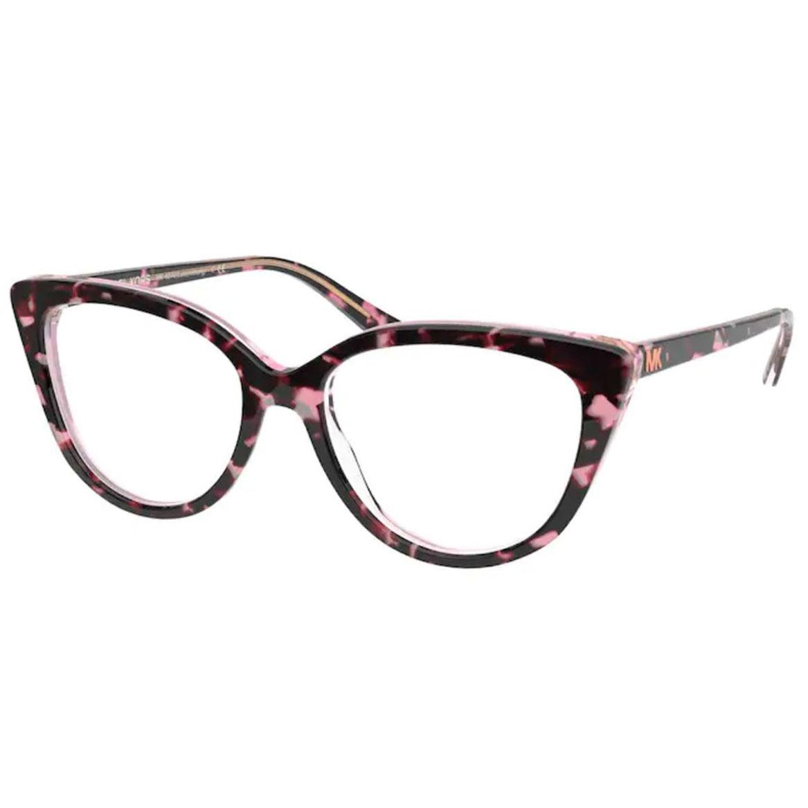 Óculos de Grau Michael Kors MK4070 Luxemburg Rosa com Preto Havana