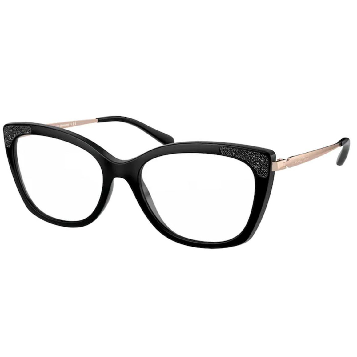 Óculos de Grau Michael Kors MK4077 Belmonte Gatinho Preto Brilho