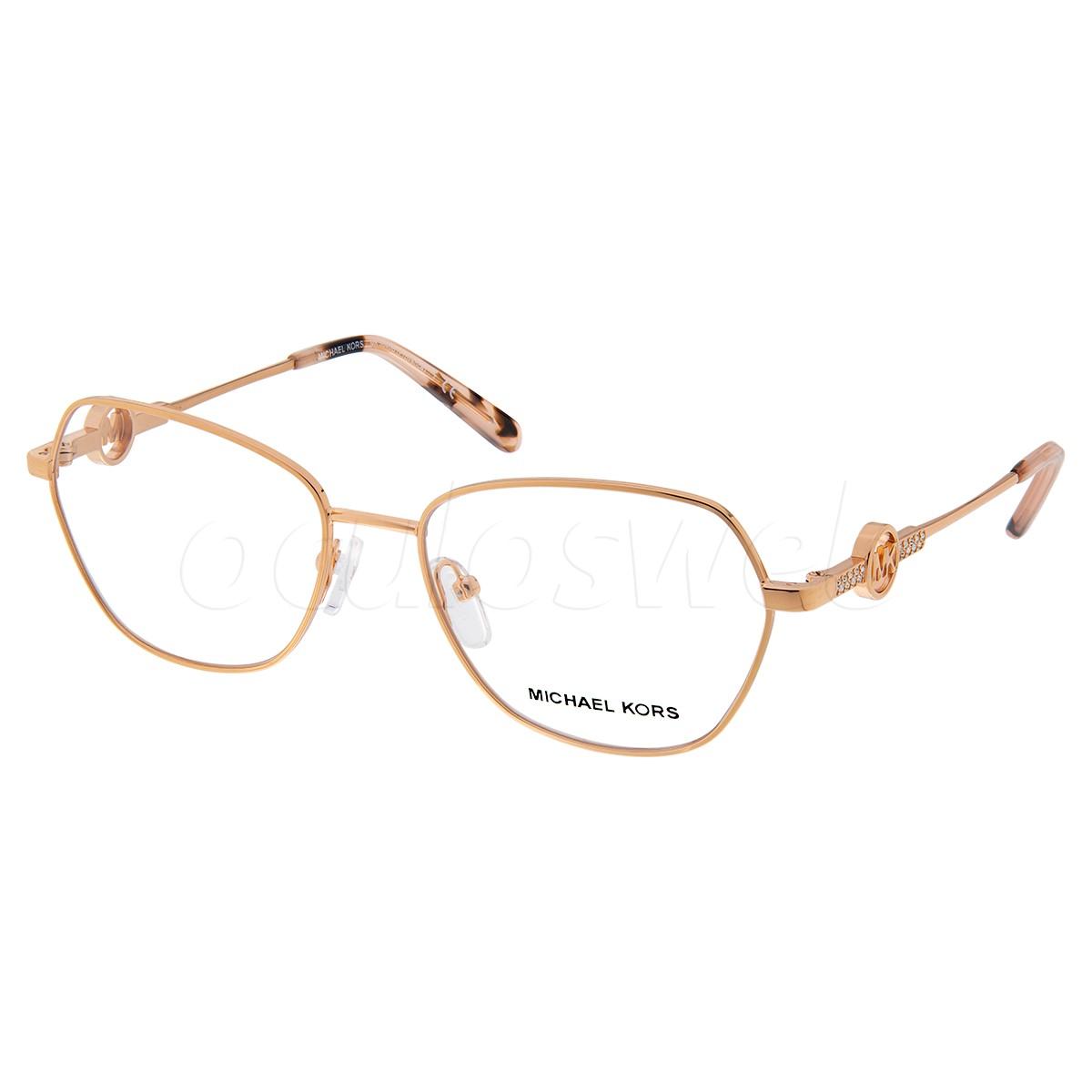 Óculos de Grau Michael Kors Provence MK3040B Dourado Rose