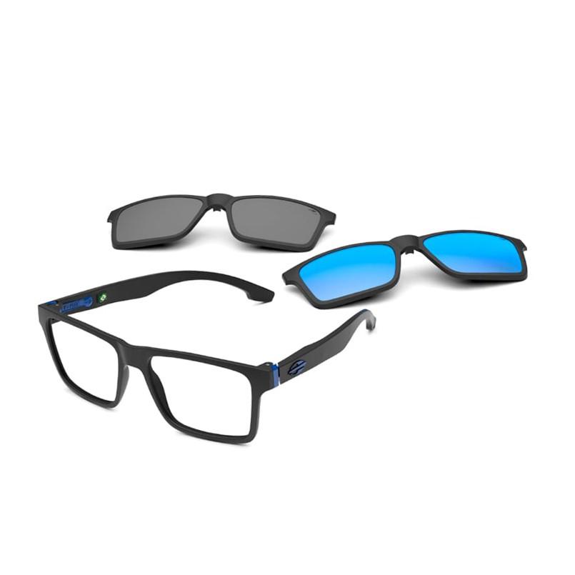 Óculos de Grau Mormaii Swap NG Duo Clipon M6098 Preto Fosco e Azul