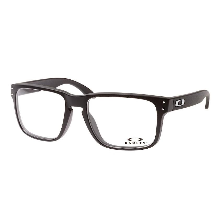 Óculos de Grau Oakley Holbrook OX8156 Preto Brilho Tamanho 54