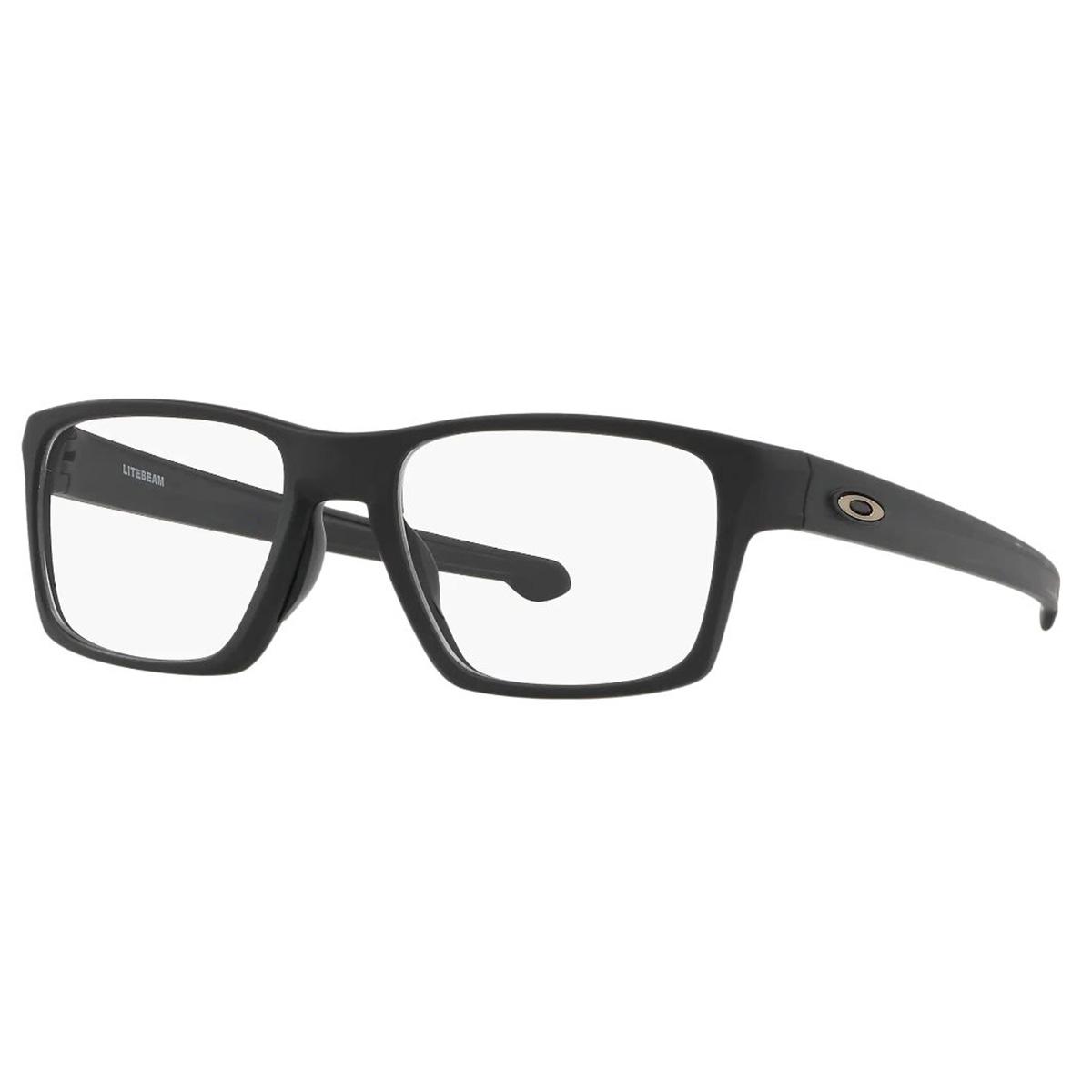Óculos de Grau Oakley Litebeam OX8140 Masculino Preto Fosco