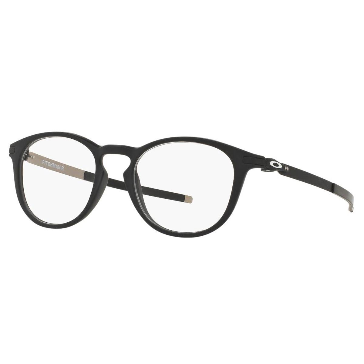Óculos de Grau Oakley OX8105 Pitchman R Preto Fosco Redondo