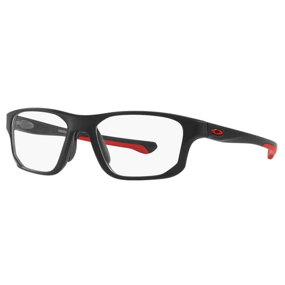 Óculos de Grau Oakley OX8136  Crosslink Fit Preto e Vermelho