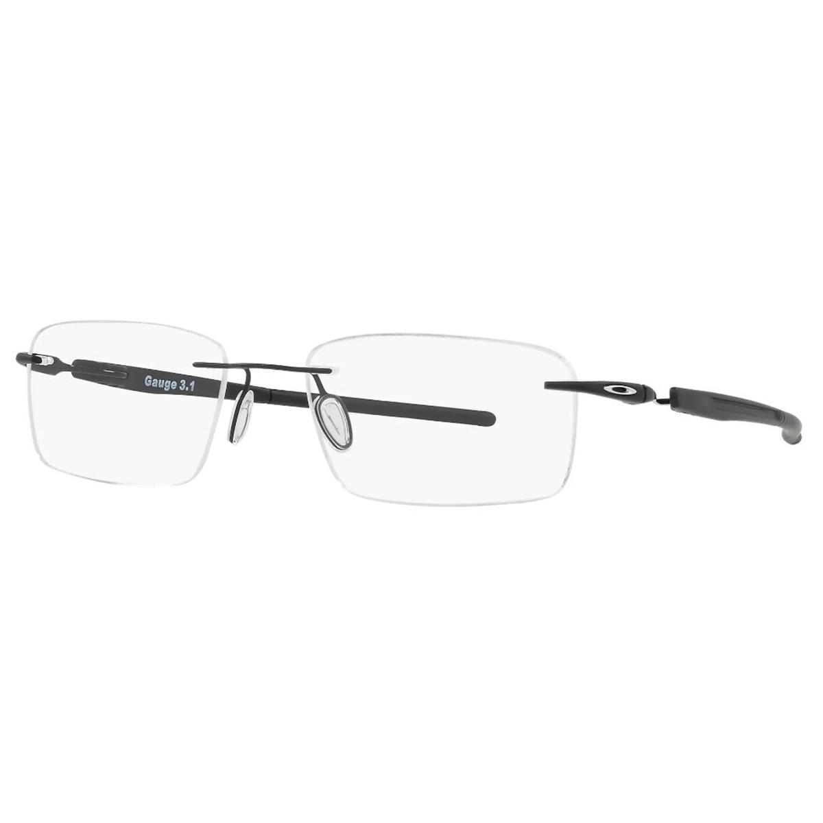 Óculos de Grau Oakley Parafusado Titânio Gauge 3.1 Preto Fosco
