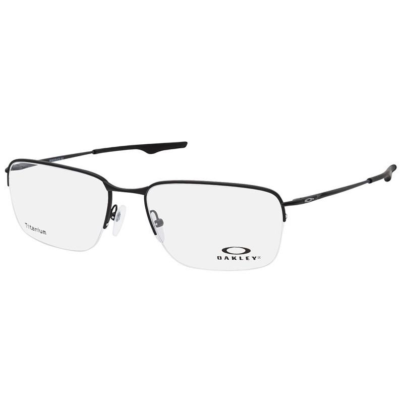 Óculos de Grau Oakley Wingback SQ Titanium Preto Fosco Tamanho 56