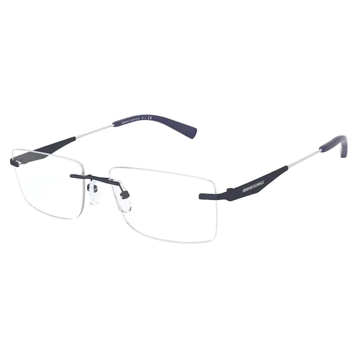 Óculos de Grau Parafusado Armani Exchange AX1039 Metal Azul Fosco