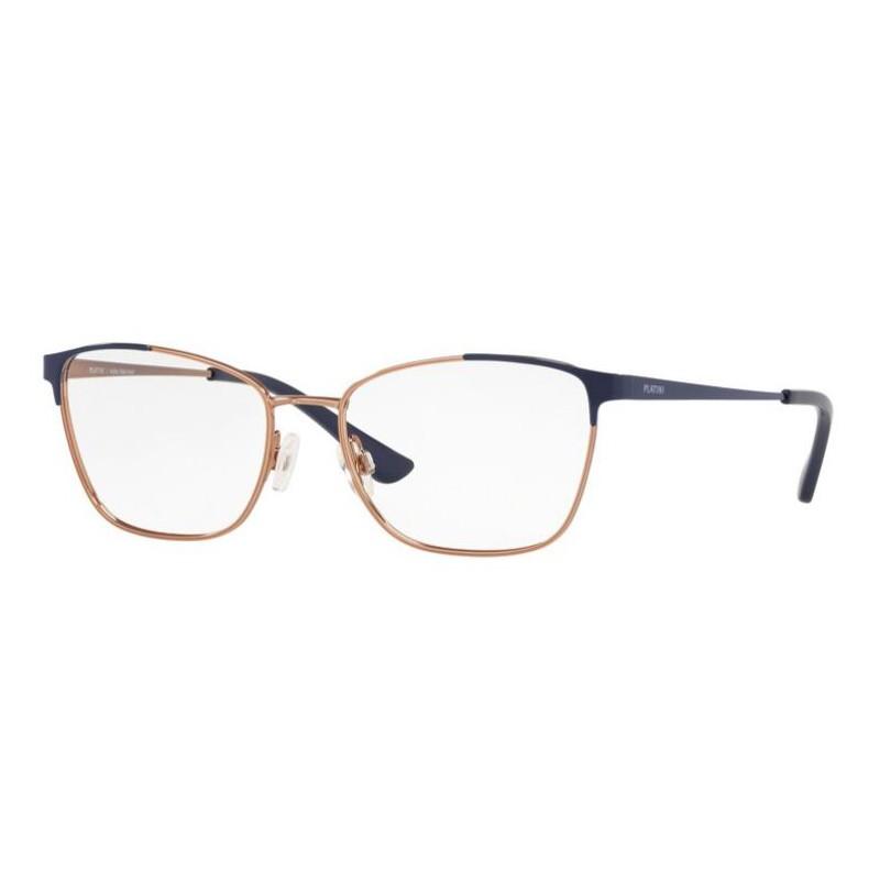 Óculos de Grau  Pequeno Platini P981180 Dourado Rose com Azul