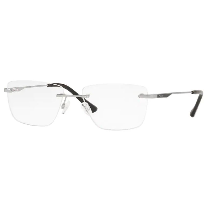 Óculos de Grau Platini P91188 Parafusado Prata Brilho