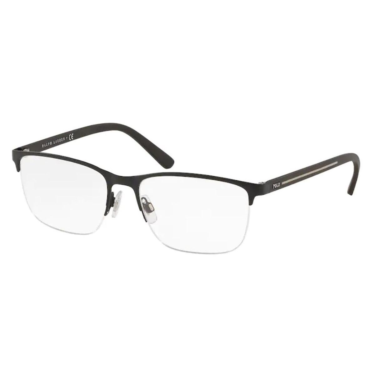 Óculos de Grau Polo Ralph Lauren PH1187 Preto Fosco Fio de Nylon