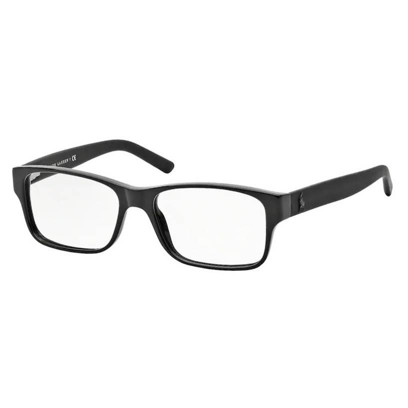 Óculos de Grau Polo Ralph Lauren PH2117 Preto Brilho Tamanho 54