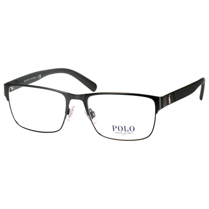 Óculos de Grau Polo Ralph Lauren Preto Fosco Masculino PH1175