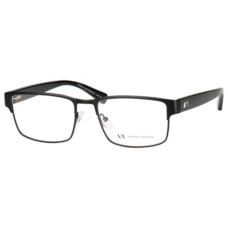 Óculos de Grau Preto Fosco Armani Exchange AX1021L Masculino