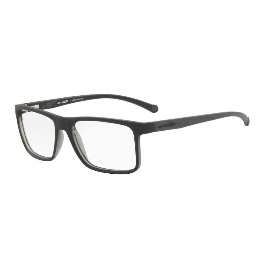 Óculos de Grau Quadrado Arnette AN7113L Preto com Cinza Fosco