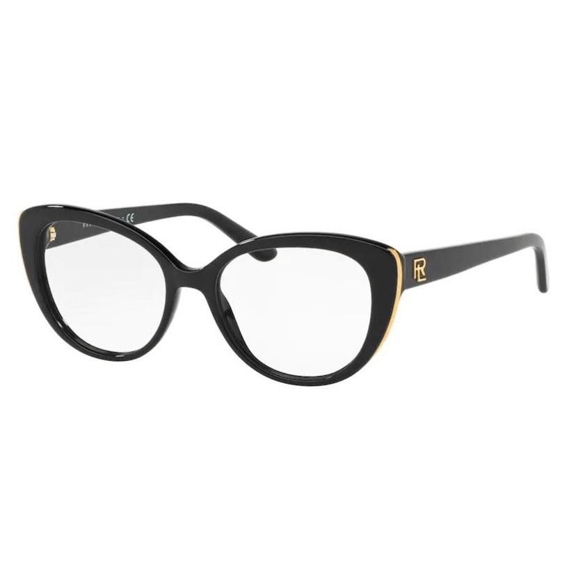 Óculos de Grau Ralph Lauren Gatinho RL6172 Preto Brilho