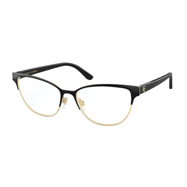 Óculos de Grau Ralph Lauren RL5108 Preto Brilho e Dourado