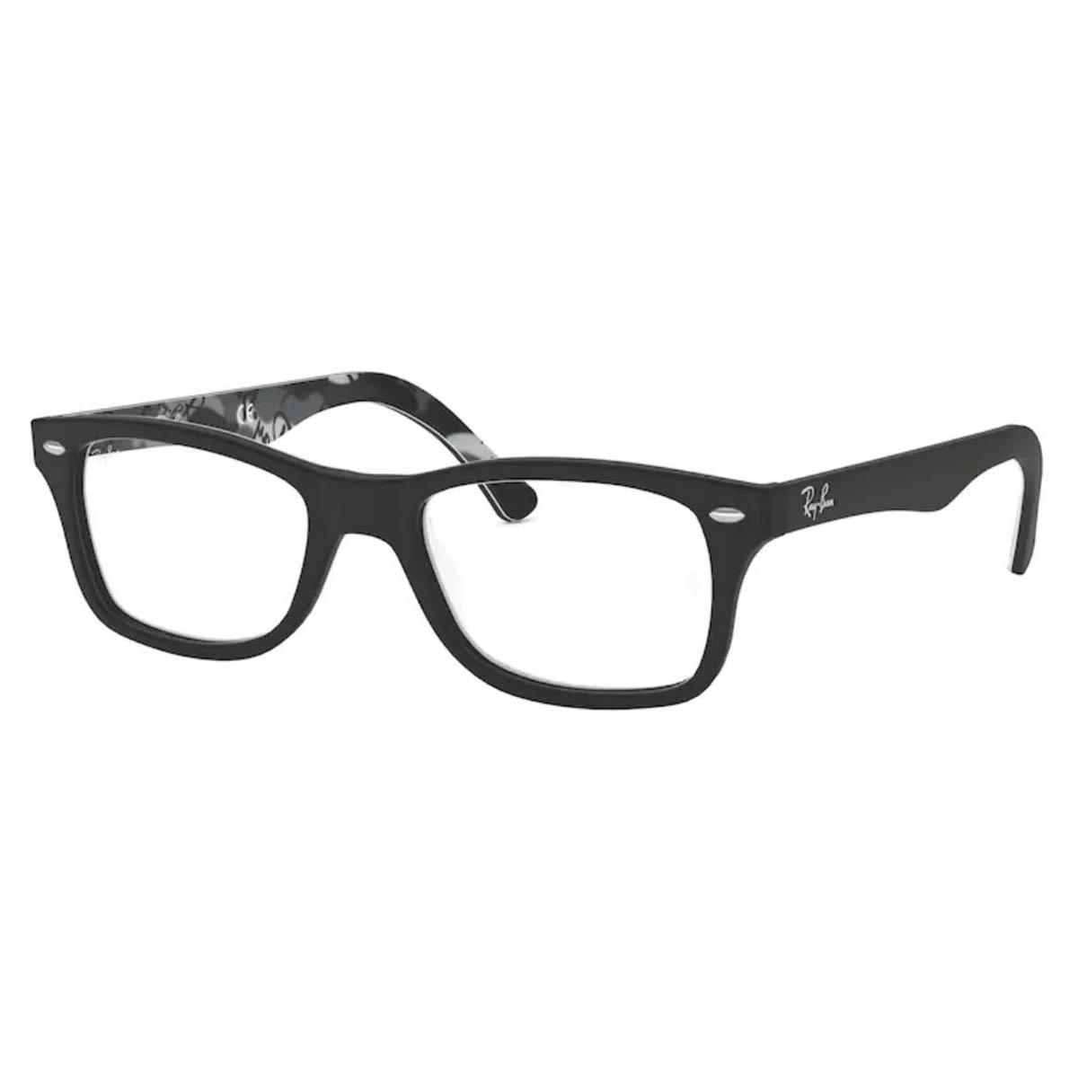 Óculos de Grau Ray Ban Acetato RX5228 Preto Fosco com Estampa