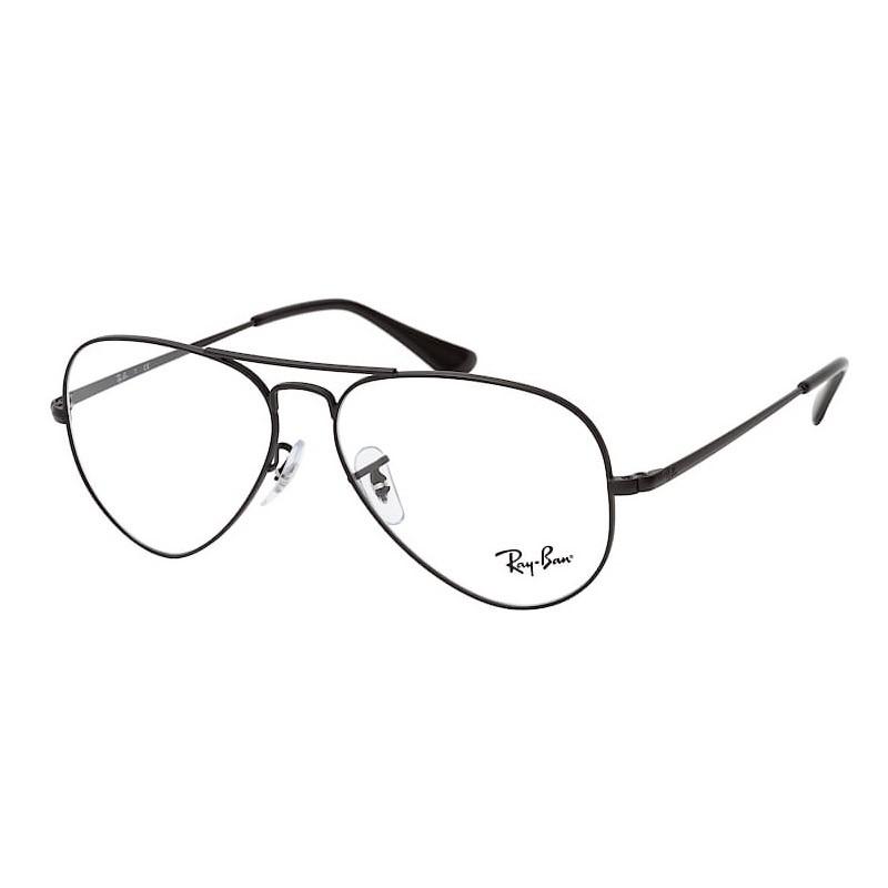 Óculos de Grau Ray Ban Aviador RX6489 Aviator Metal Preto Fosco