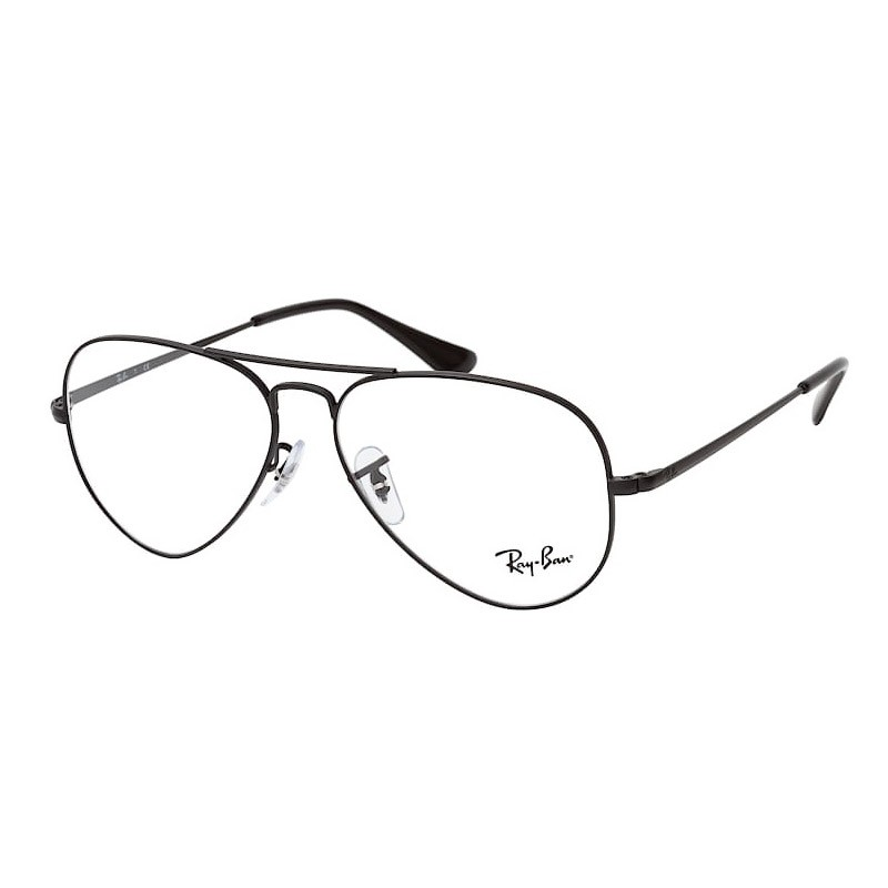 Óculos de Grau Ray Ban Aviador Unissex RX6489 Aviator Metal Preto Fosco