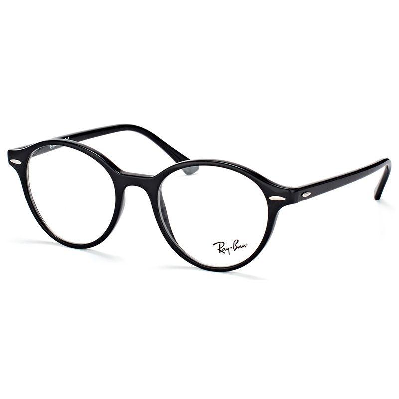 Óculos de Grau Ray Ban Dean Redondo RX7118 Preto Brilho