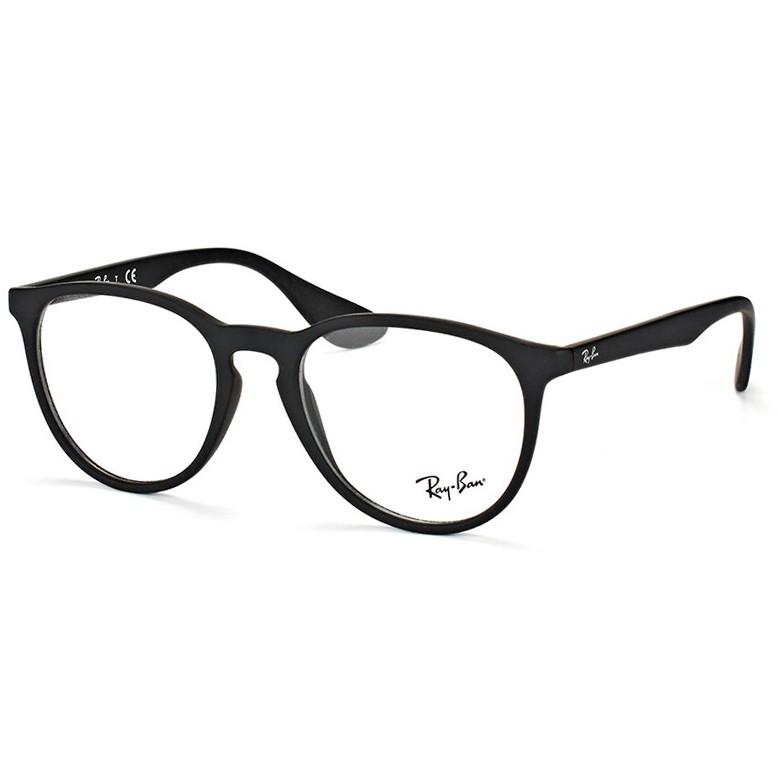 Óculos de Grau Ray Ban Erika RX7046L Preto Fosco Emborrachado
