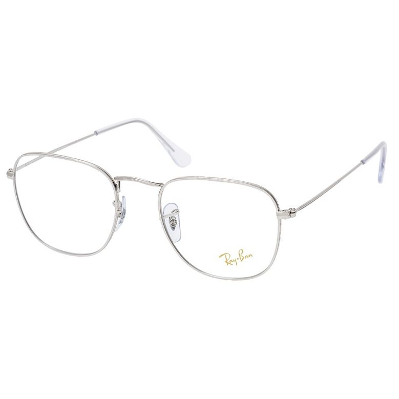 Óculos de Grau Ray Ban Frank RX3857V Metal Prata Brilho Tamanho 51