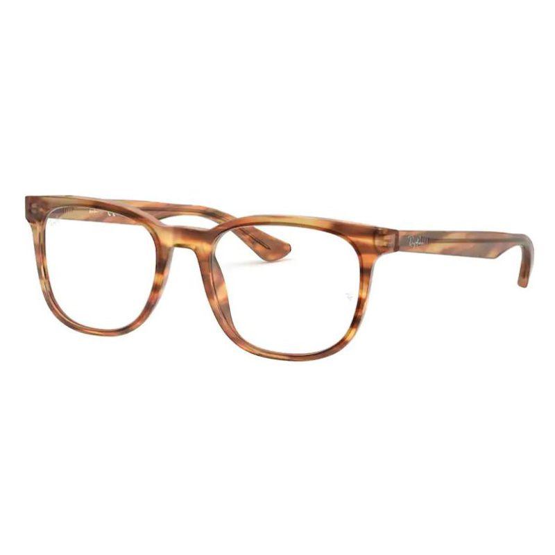 Óculos de Grau Ray Ban Grau Quadrado RX5369 Acetato Marrom Havana