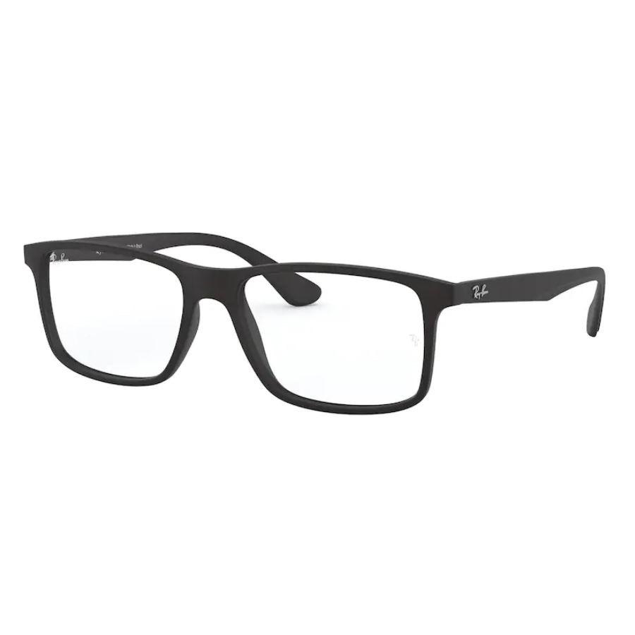 Óculos de Grau Ray Ban Masculino Retangular RX7120L Preto Fosco