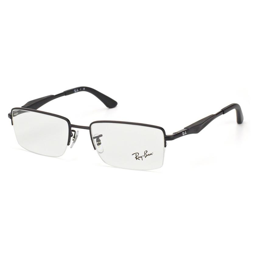 Óculos de Grau Ray Ban Masculino RX6285 Preto Fosco