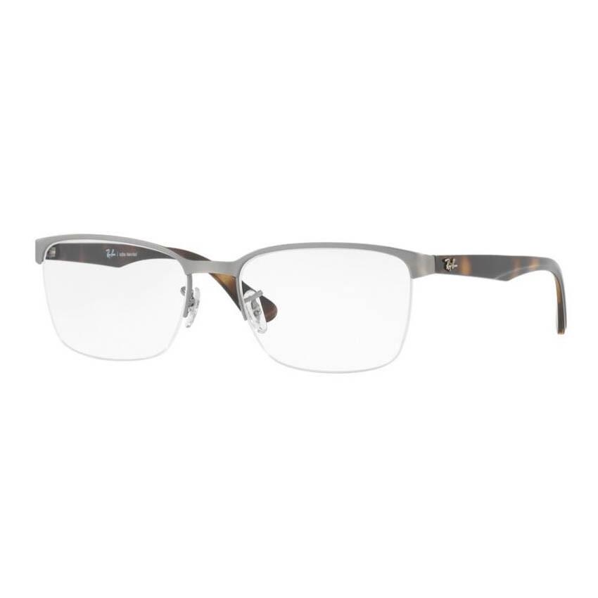 Óculos de Grau Ray Ban Masculino RX6395L Metal Prata e Tartaruga