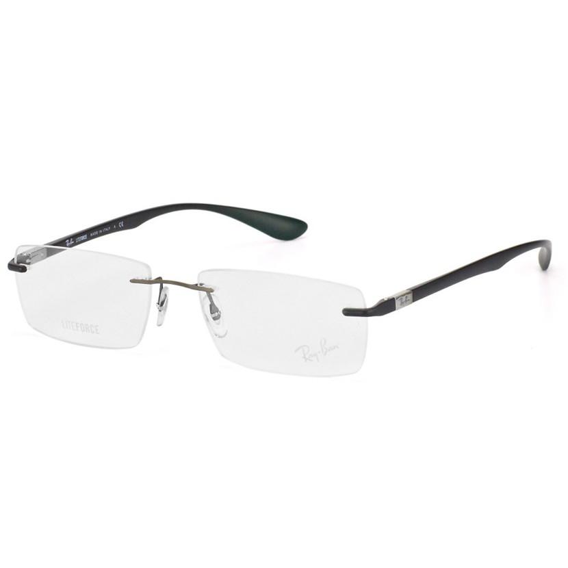 Óculos de Grau Ray Ban Parafusado RX8724 Titânio Preto com Prata