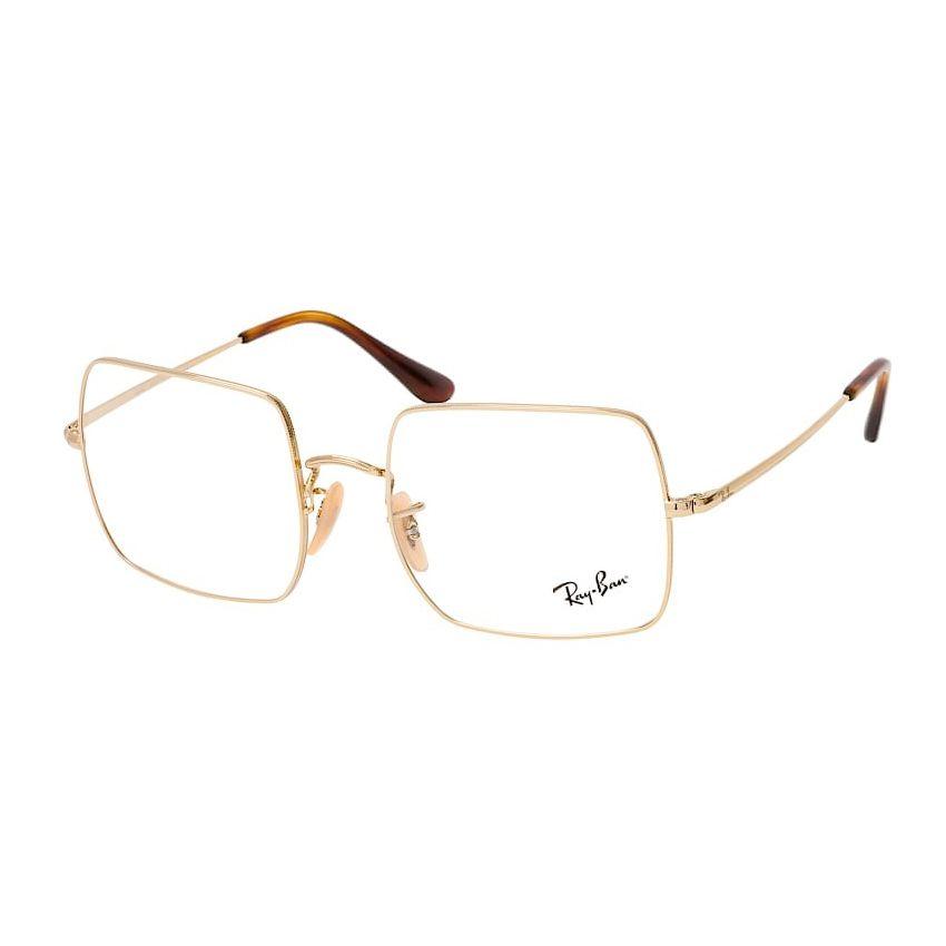 Óculos de Grau Ray Ban Quadrado RX1971V Square Metal Dourado