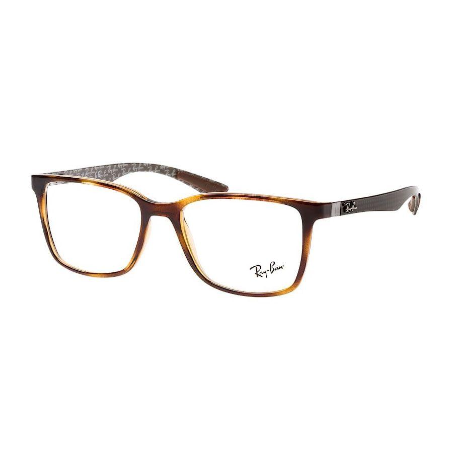 Óculos de Grau Ray Ban Quadrado RX8905 Marrom Havana Grande