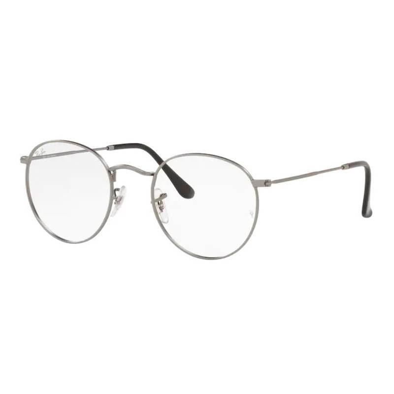 Óculos de Grau Ray Ban Round Metal RX3447VL Cinza Fosco Redondo