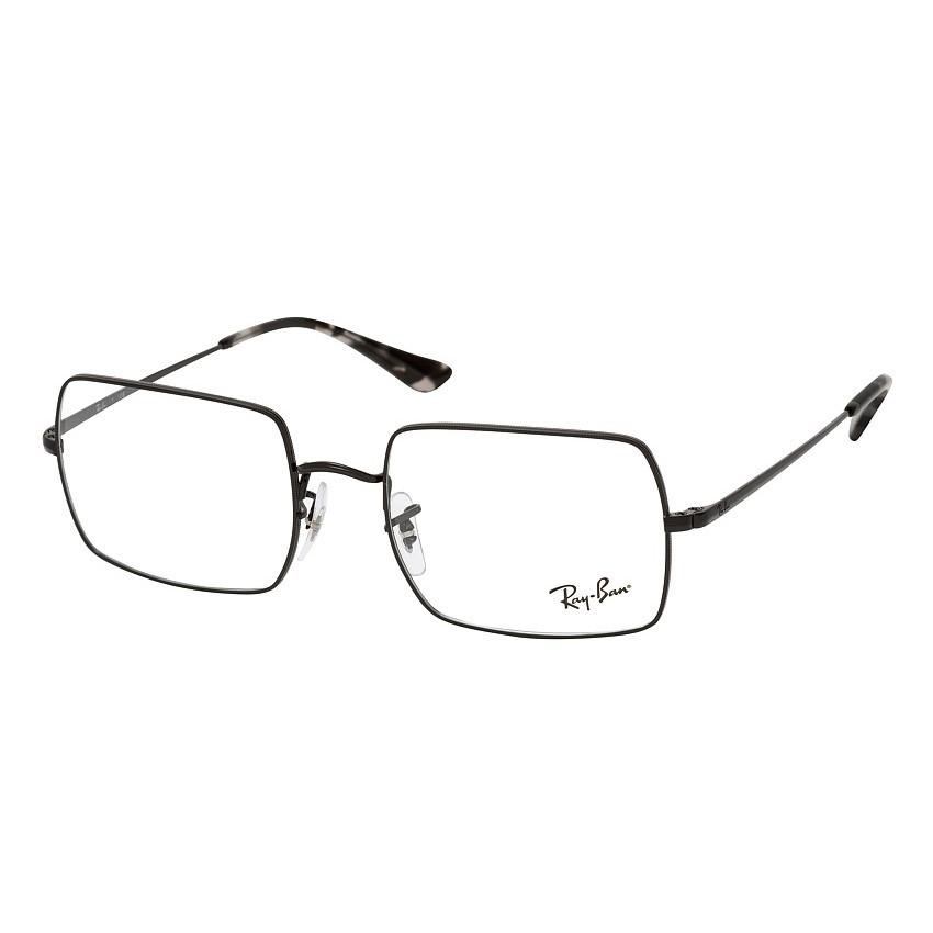 Óculos de Grau Ray Ban RX1969V Preto Brilho Metal Quadrado